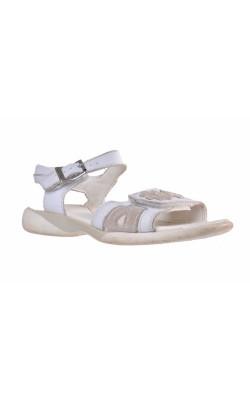 Sandale albe Clarks, piele, marime 29.5