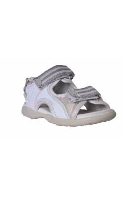 Sandale albe cu argintiu Alive, marime 25