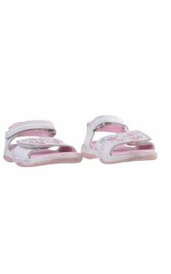 Sandale albe cu broderie Adams Kids, marime 21