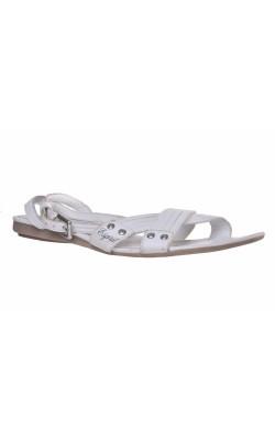 Sandale albe din piele Esprit, marime 39
