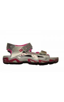 Sandale argintiu cu roz Ecco, Toe Grip, marime 34