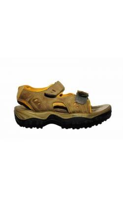Sandale bej cu galben Flash Sport, marime 36