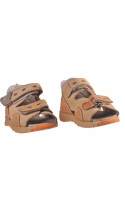 Sandale bej cu oranj Baren-Schuhe, marime 23