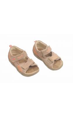 Sandale bej cu oranj SuperFit, piele, marime 24