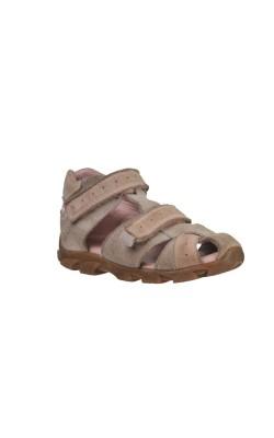 Sandale bej cu roz Elefanten, piele, marime 23