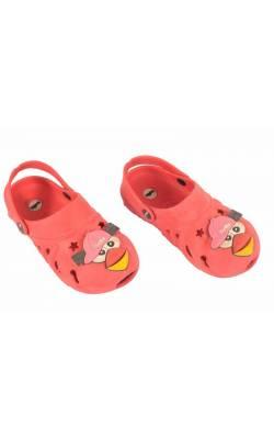 Sandale Bella, culoare rosie, decor pasare, marime 29