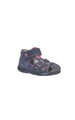 Sandale bleumarin cu roz Richter, piele, marime 20
