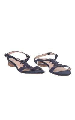 Sandale bleumarin din piele Caprice, marime 37.5