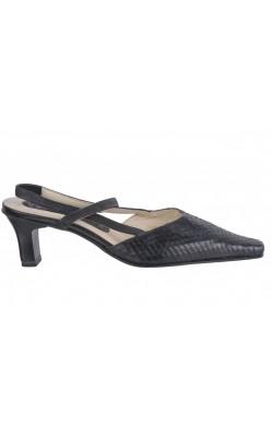 Sandale negre din piele naturala Caprice, marime 36