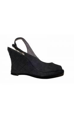 Sandale denim si piele Tamaris, cu platforma, marime 40