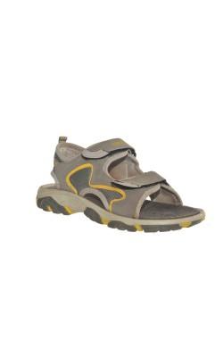 Sandale gri Casual, marime 34