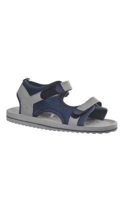 Sandale gri cu albastru, marime 35