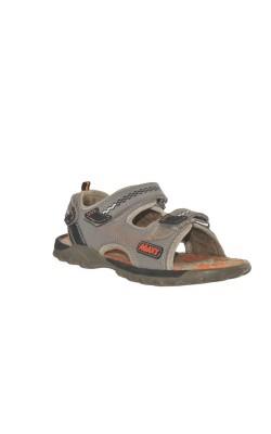Sandale gri cu oranj Agaxy, marime 33