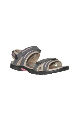 Sandale gri cu roz Kangaroos, marime 35