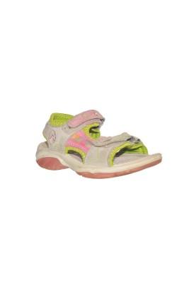 Sandale gri cu roz si fistic Twisty, piele, marime 30