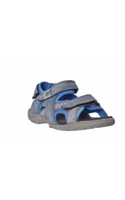 Sandale gri din piele Ecco light, marime 34