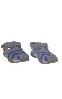 Sandale gri din piele Leone, marime 35