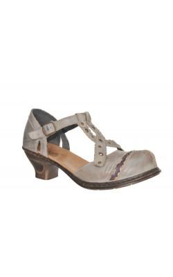 Sandale gri Rieker, piele naturala, foarte usoare, marime 38