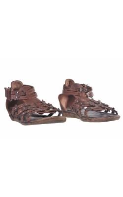 Sandale maro Agaxy, marime 33