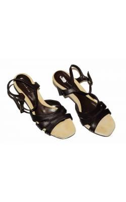 Sandale maro Andrea Kamp, piele, marime 40, calapod lat