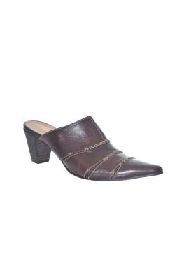 Sandale maro din piele Donna, marime 40