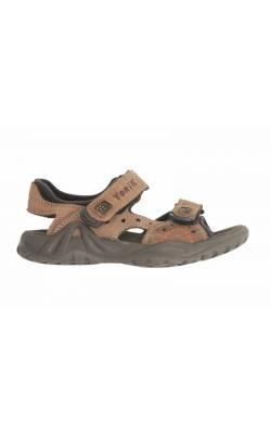 Sandale maro din piele naturala Yorik, marime 33