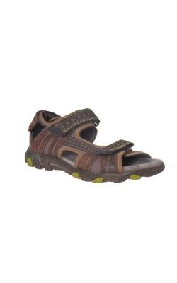 Sandale maro din piele Superfit, marime 35