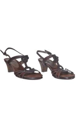 Sandale maro Marco Tozzi, piele, marime 39