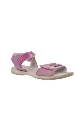 Sandale mov cu flori Elefanten, piele naturala, marime 30