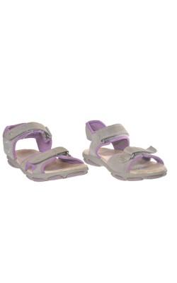Sandale mov cu gri SuperFit, piele naturala, marime 34