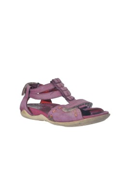 Sandale mov din piele naturala Ecco, marime 32