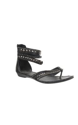 Sandale negre Agaxy, marime 34