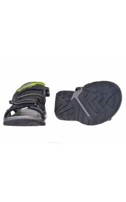 Sandale negre cu fistic Agaxy, marime 32