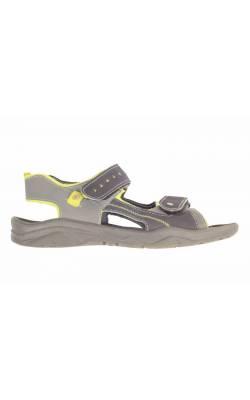 Sandale negre decor fistic Ricosta, marime 36