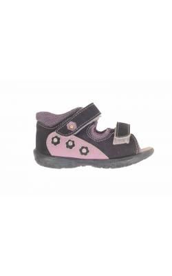 Sandale negre decor mov Pepino by Ricosta, marime 20