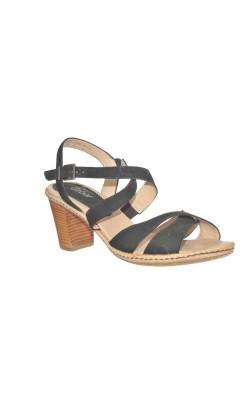 Sandale negre din piele Gabor, marime 41