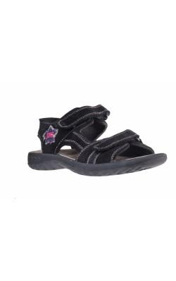 Sandale negre din piele Imac, marime 37