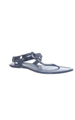 Sandale negre din piele Uncle K, marime 36