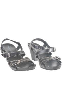 Sandale negre piele naturala Timberland, marime 40