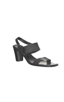 Sandale negre Tommy Hilfiger, piele naturala, marime 38
