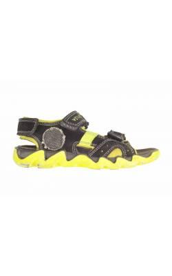 Sandale negre Venice, piele intoarsa, marime 30