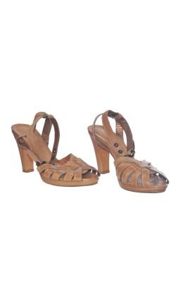 Sandale nude Prego, piele naturala, marime 40