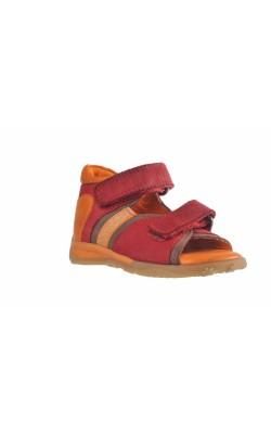 Sandale oranj cu rosu Baren-Schuhe, marime 18