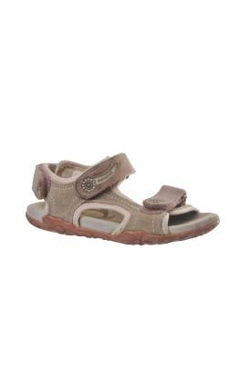 Sandale piele bej cu mov Elefanten, piele, marime 27
