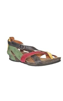 Sandale piele naturala Think, usoare si comode, marime 38 calapod lat