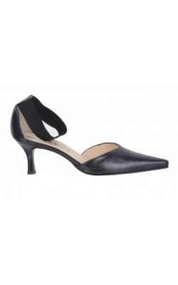 Sandale piele neagra Peter Kaiser, marime 38.5