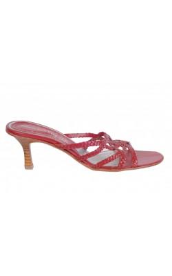 Sandale piele rosie Roberto Santi, marime 38.5