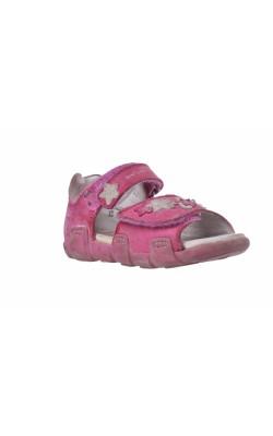 Sandale piele roz cu flori Elefanten, marime 21