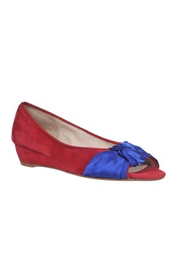 Sandale piele si satin Julia Chaussures, marime 37.5