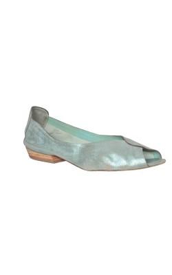 Sandale piele sidefata Pol-Ite, marime 38 calapod lat